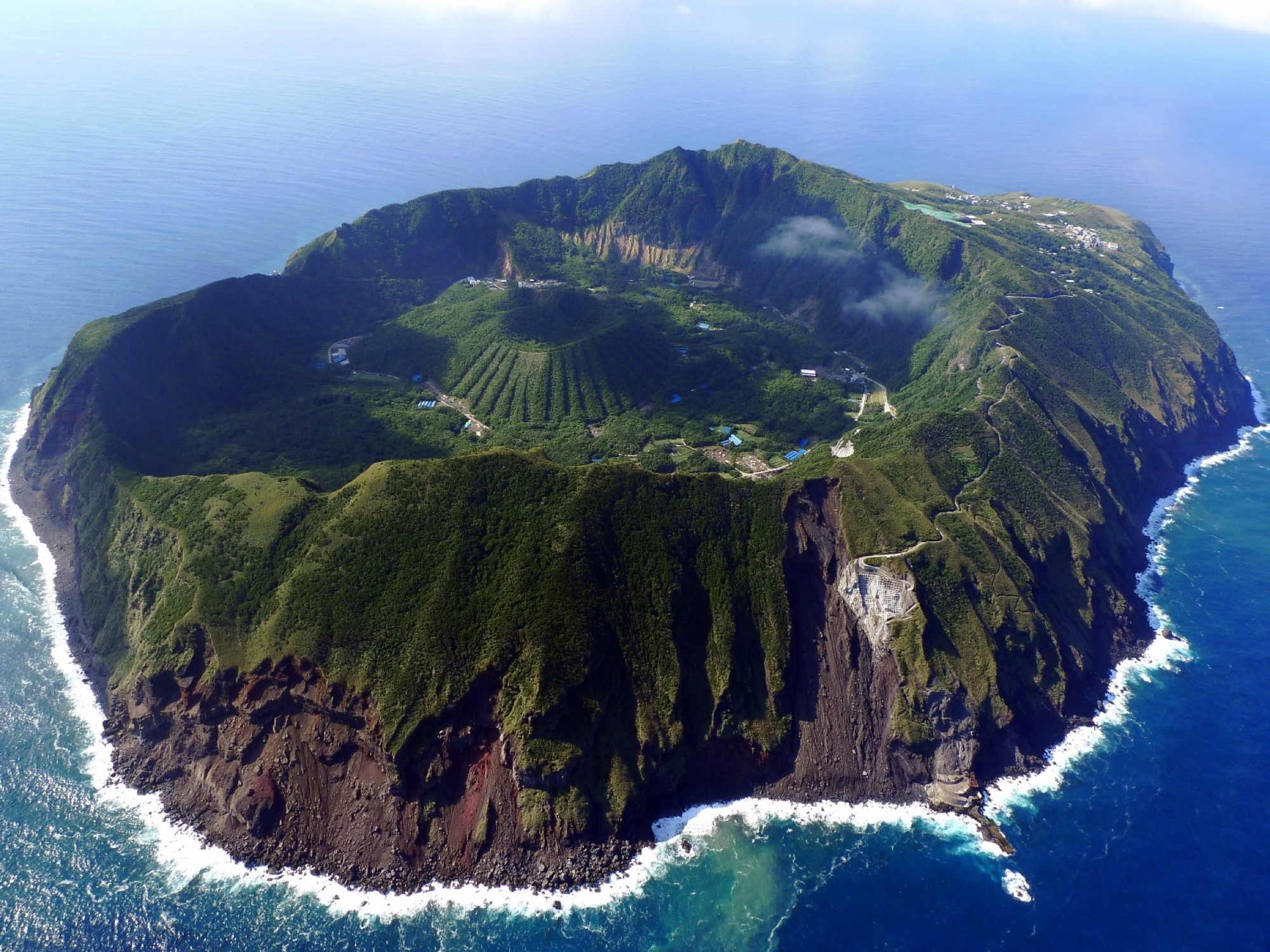 Photo of Aogashima from the air