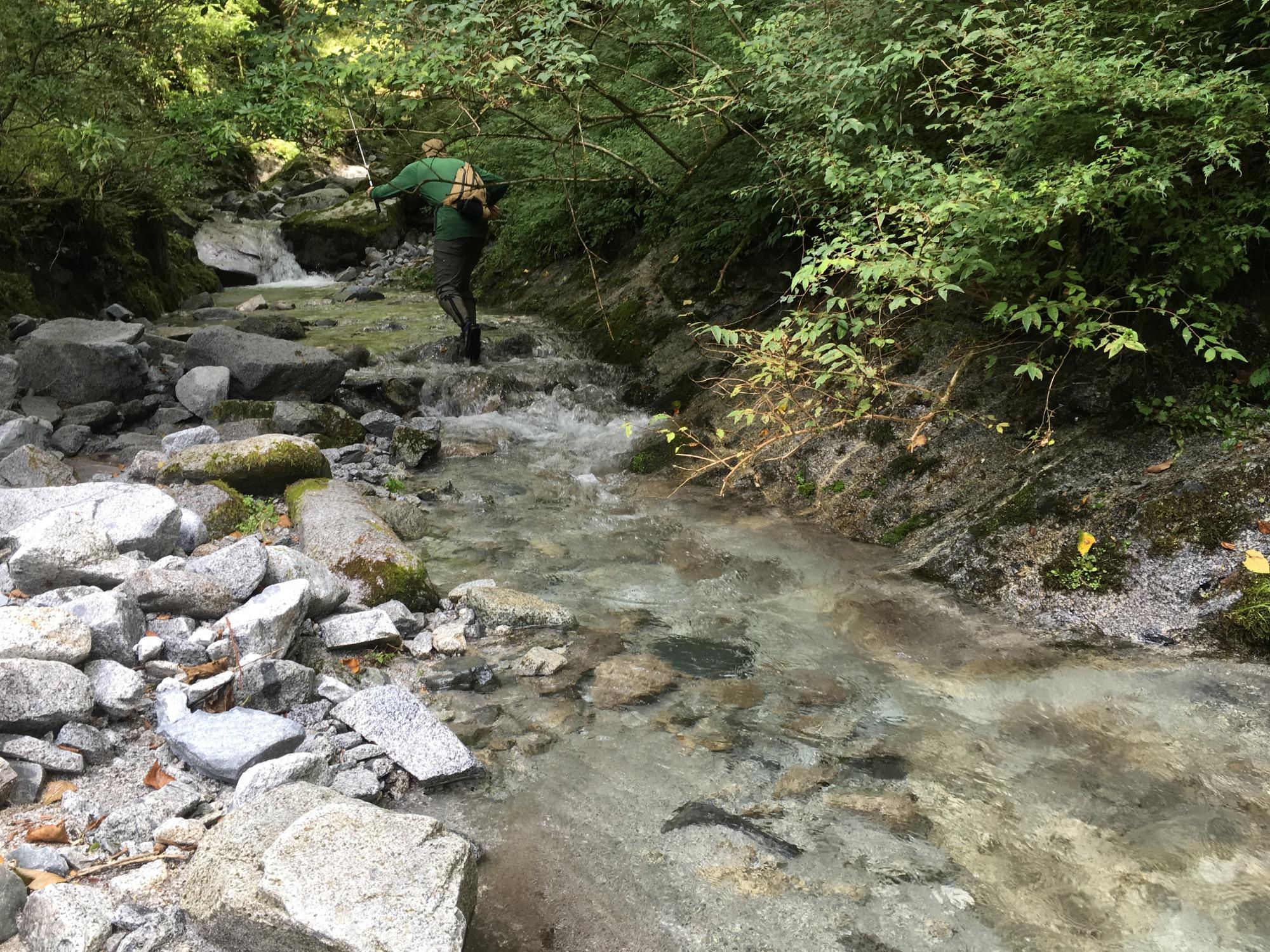 Exploring a tight stream