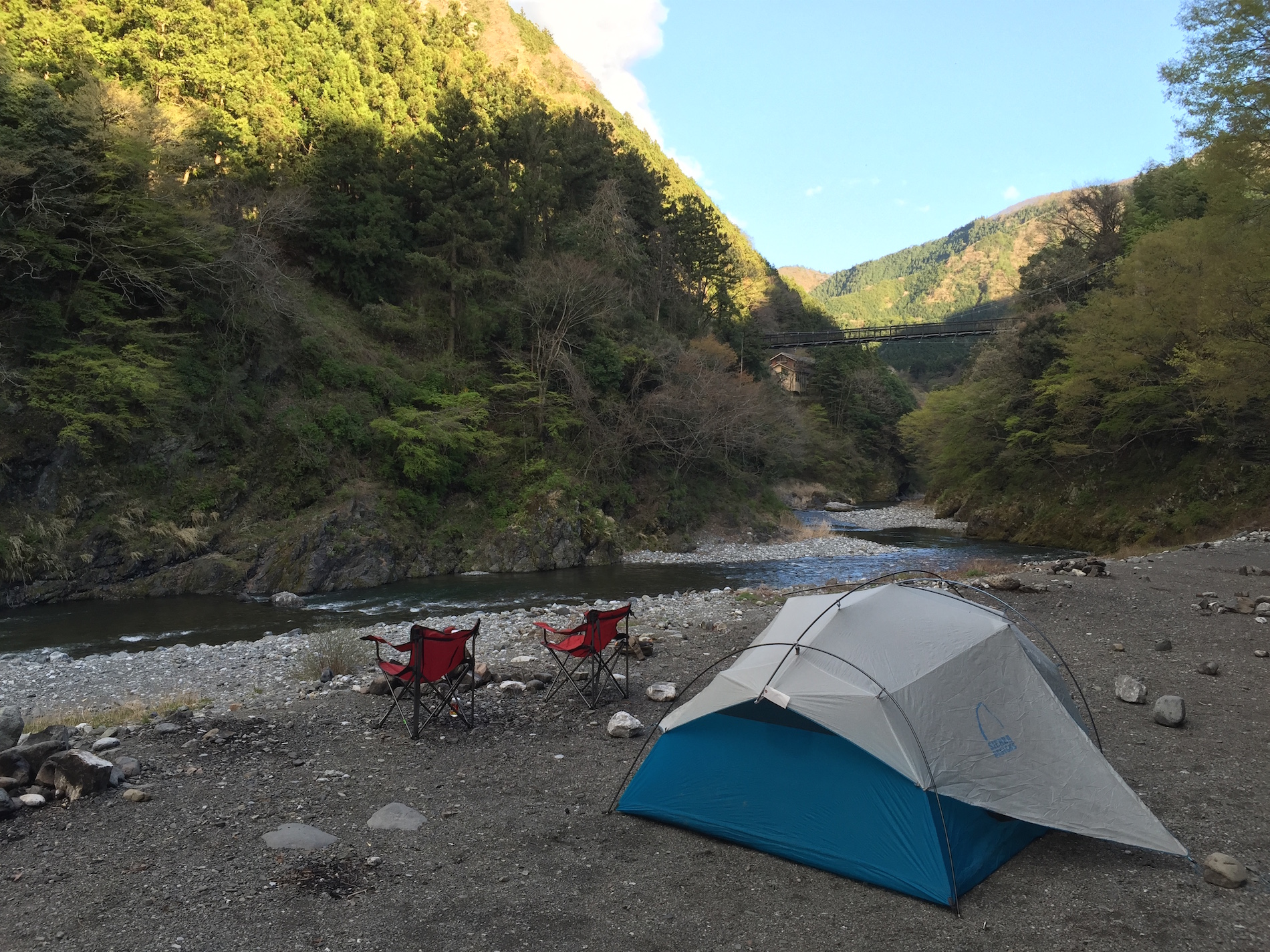 Camping near Tokyo