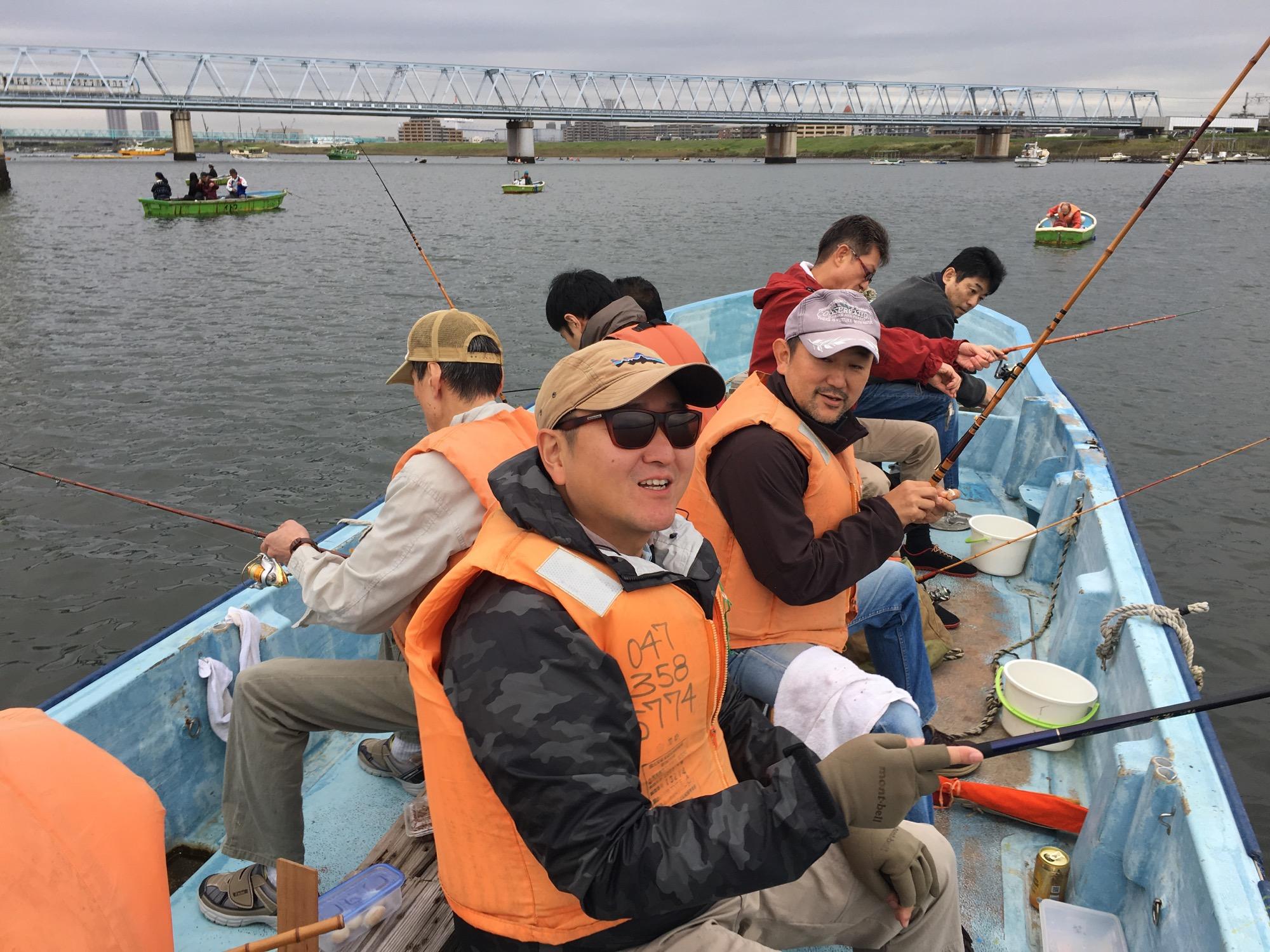 Haze fishing in the Edogawa