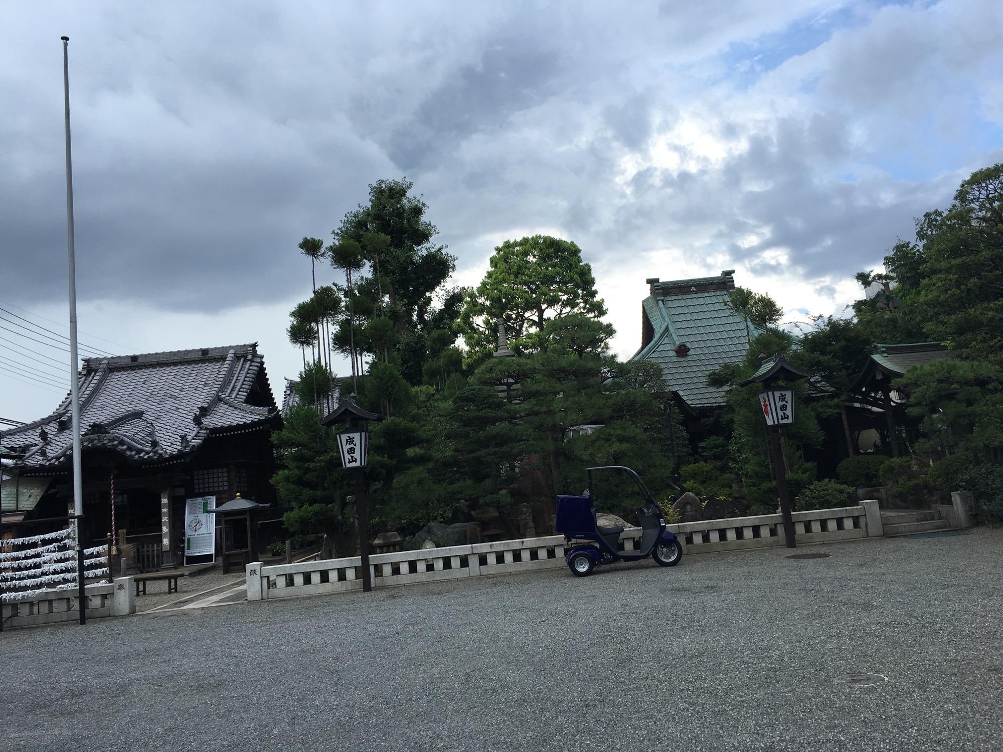 The nearby shrine