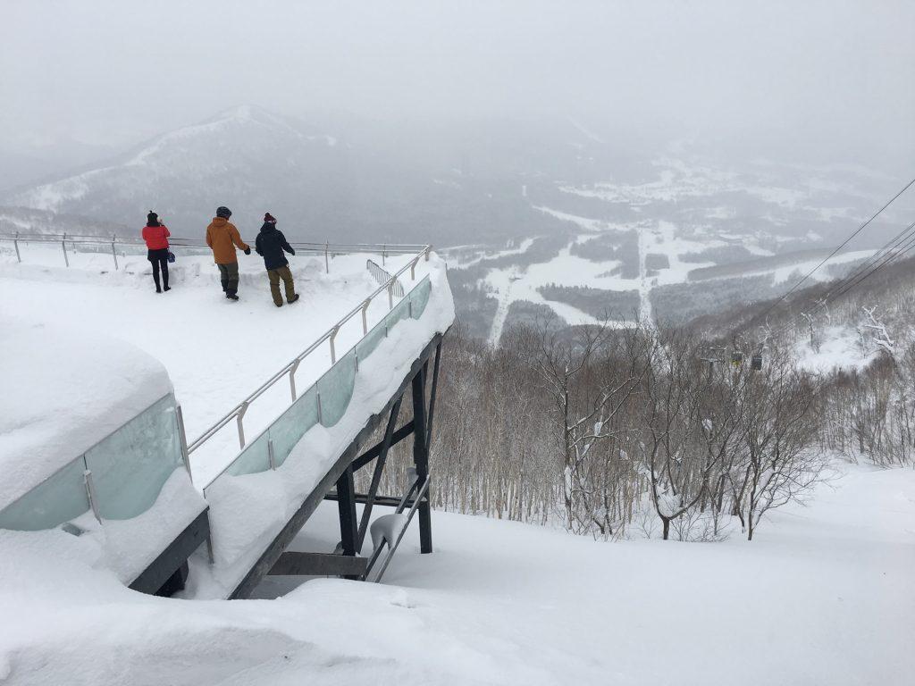 overlooking the ski resort