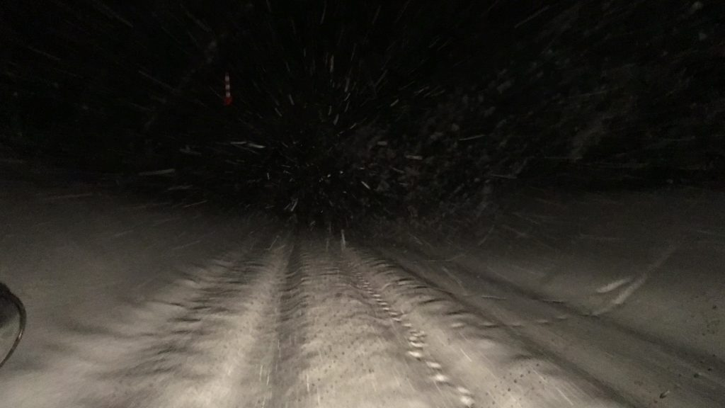 45cm of snow on the road, thank God we have 4x4