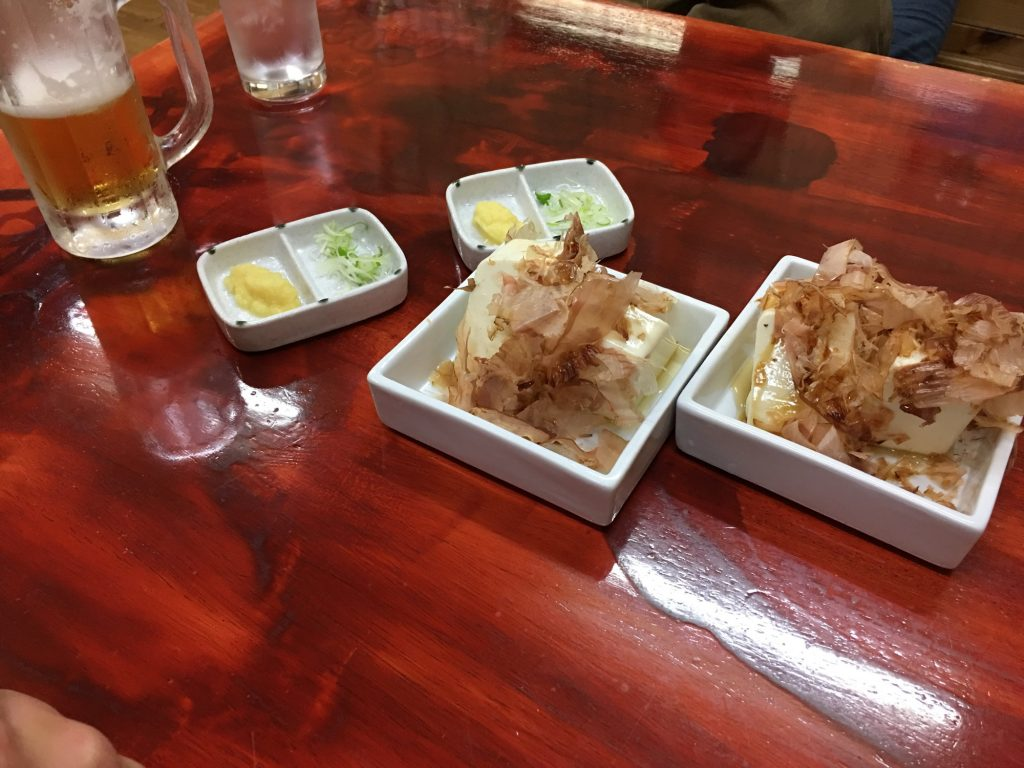 A delicious dinner in a hole in the wall izakaya