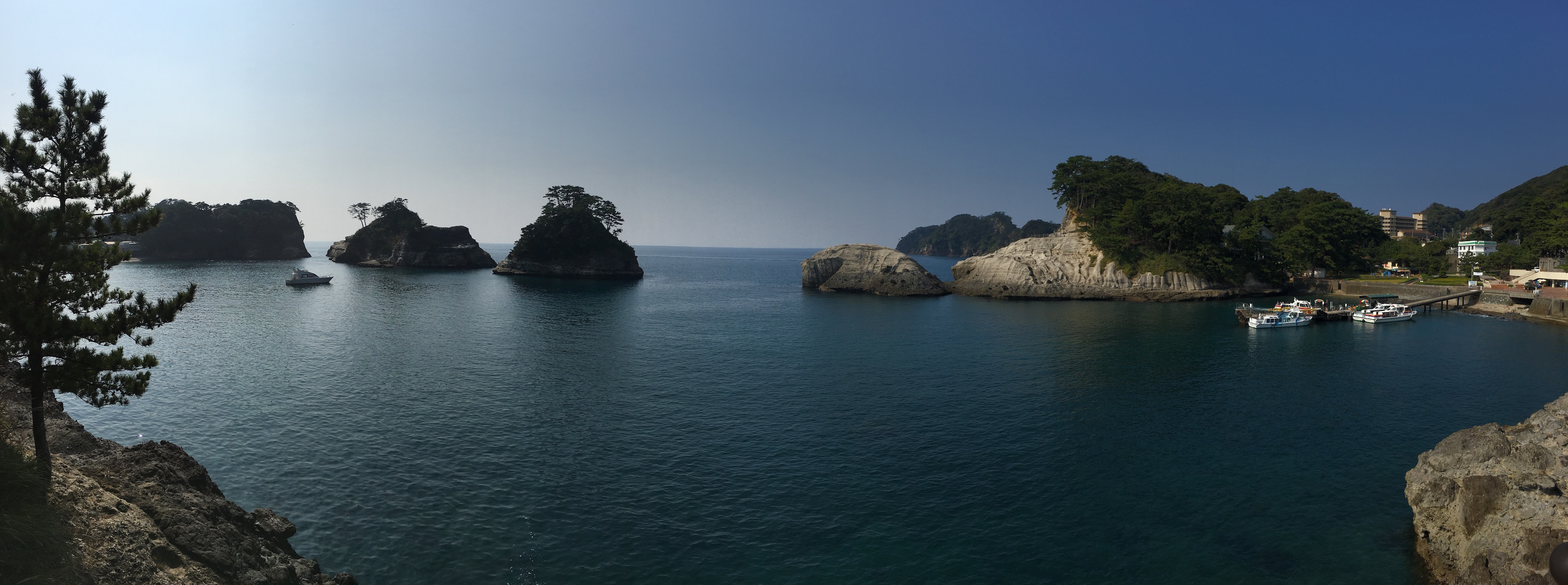 Panorama of a lovely bay