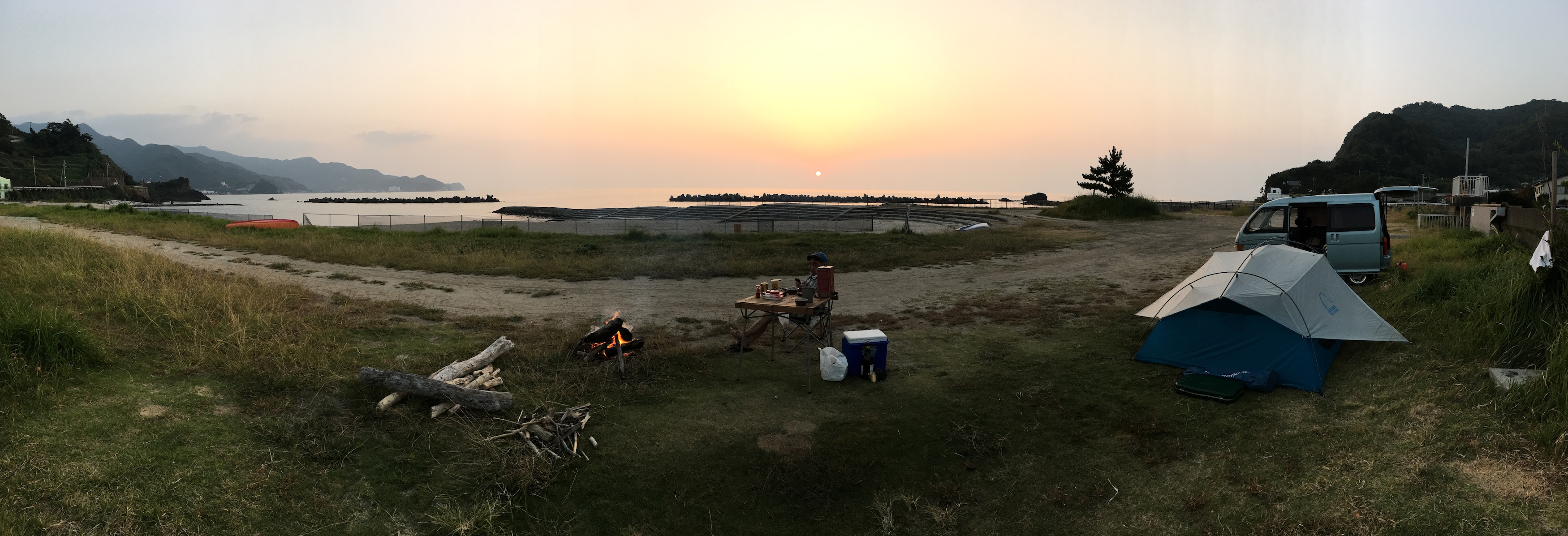 The sunset view from our camp