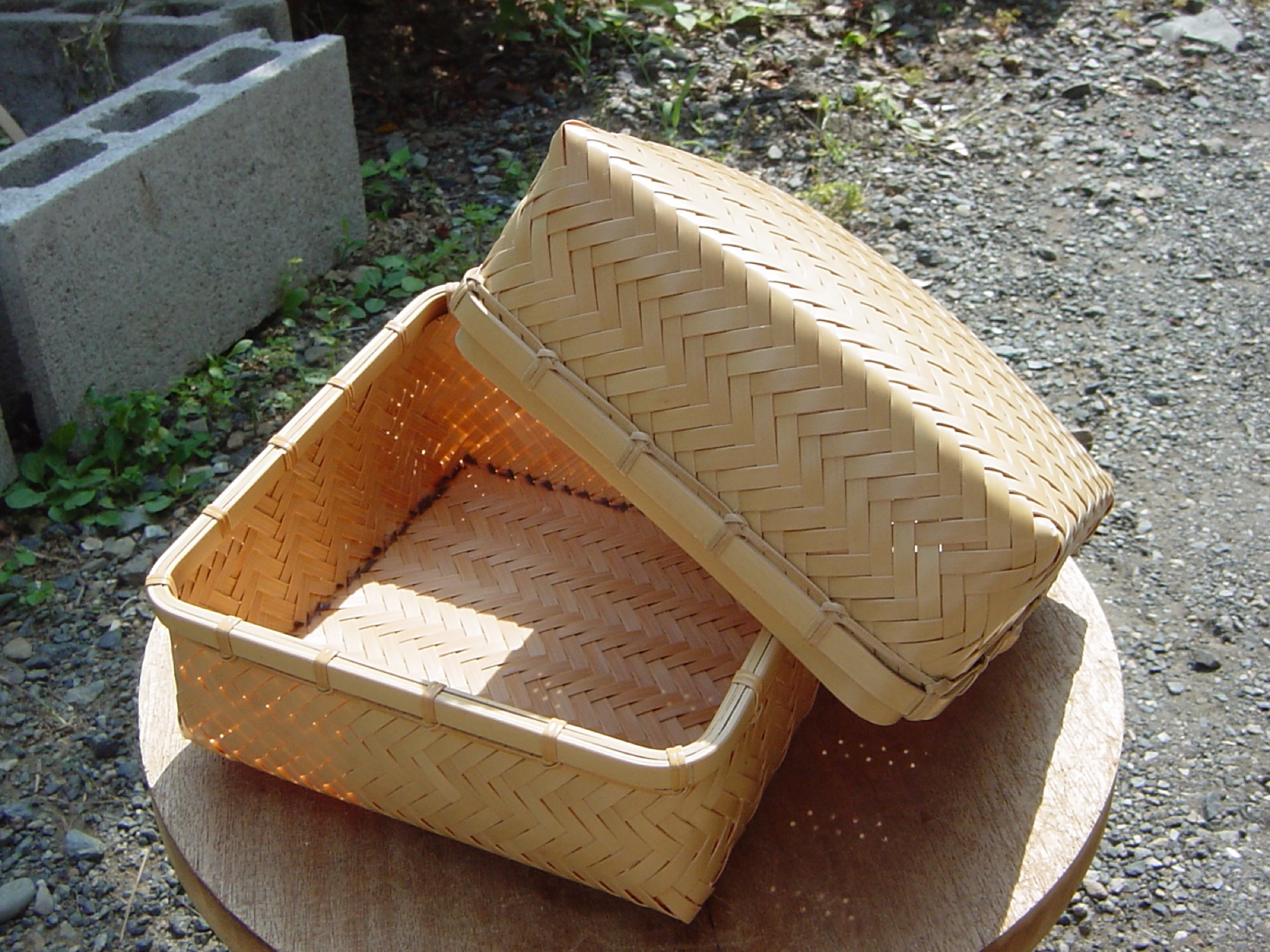 An empty Japanese basket