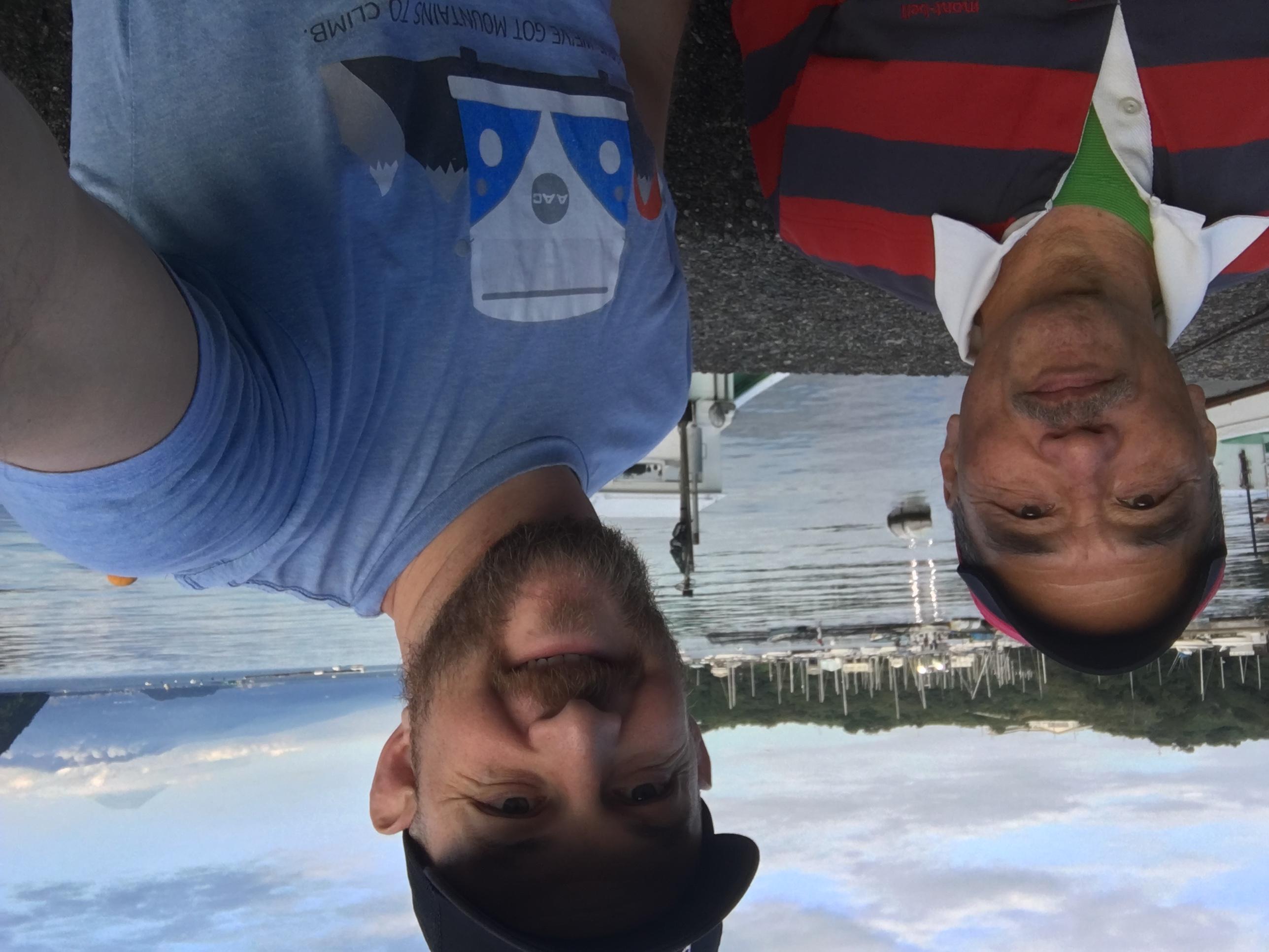 My tenkara sensei and good friend Kado-san and me.