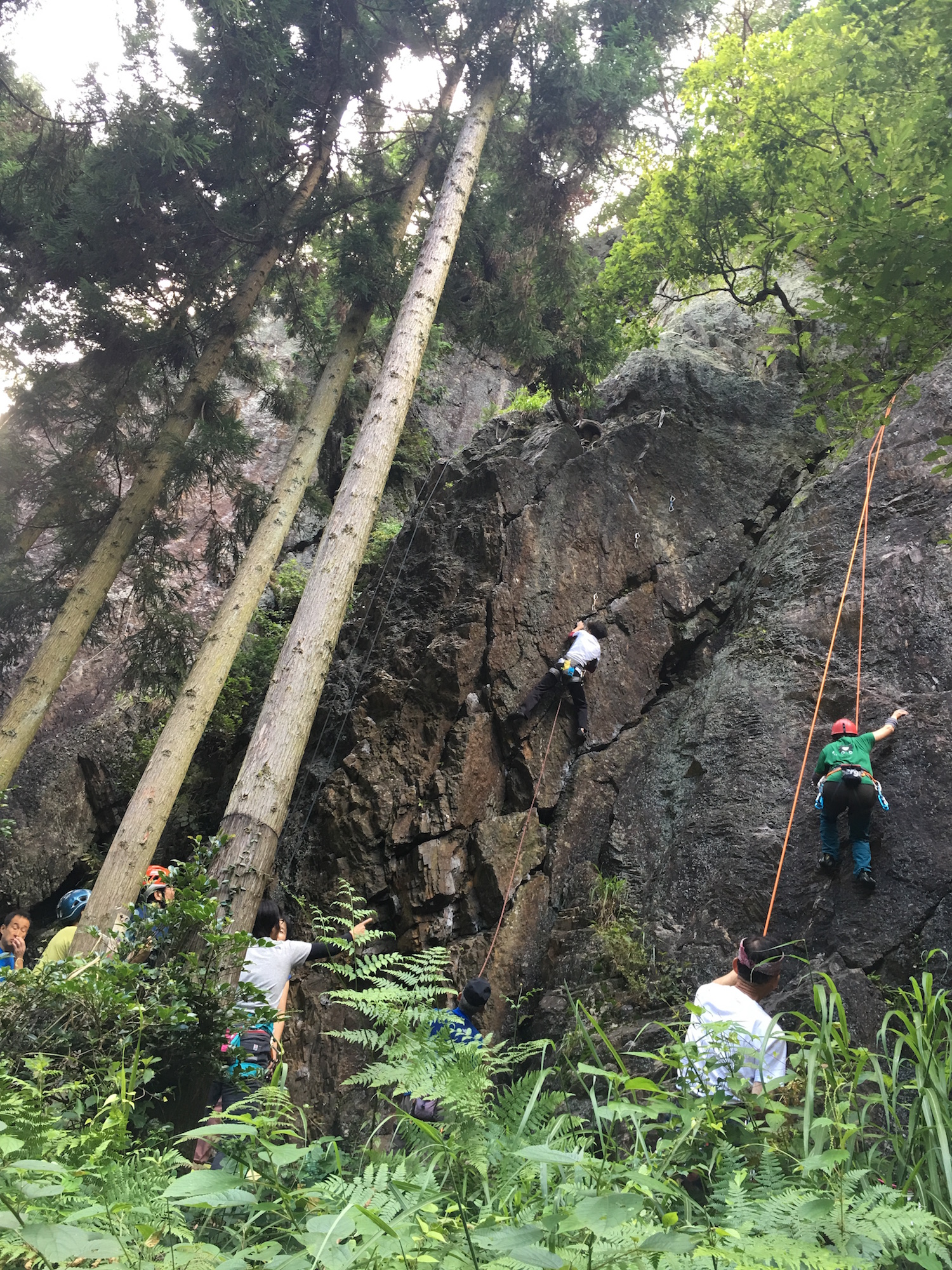 Rock climbing near Nikko