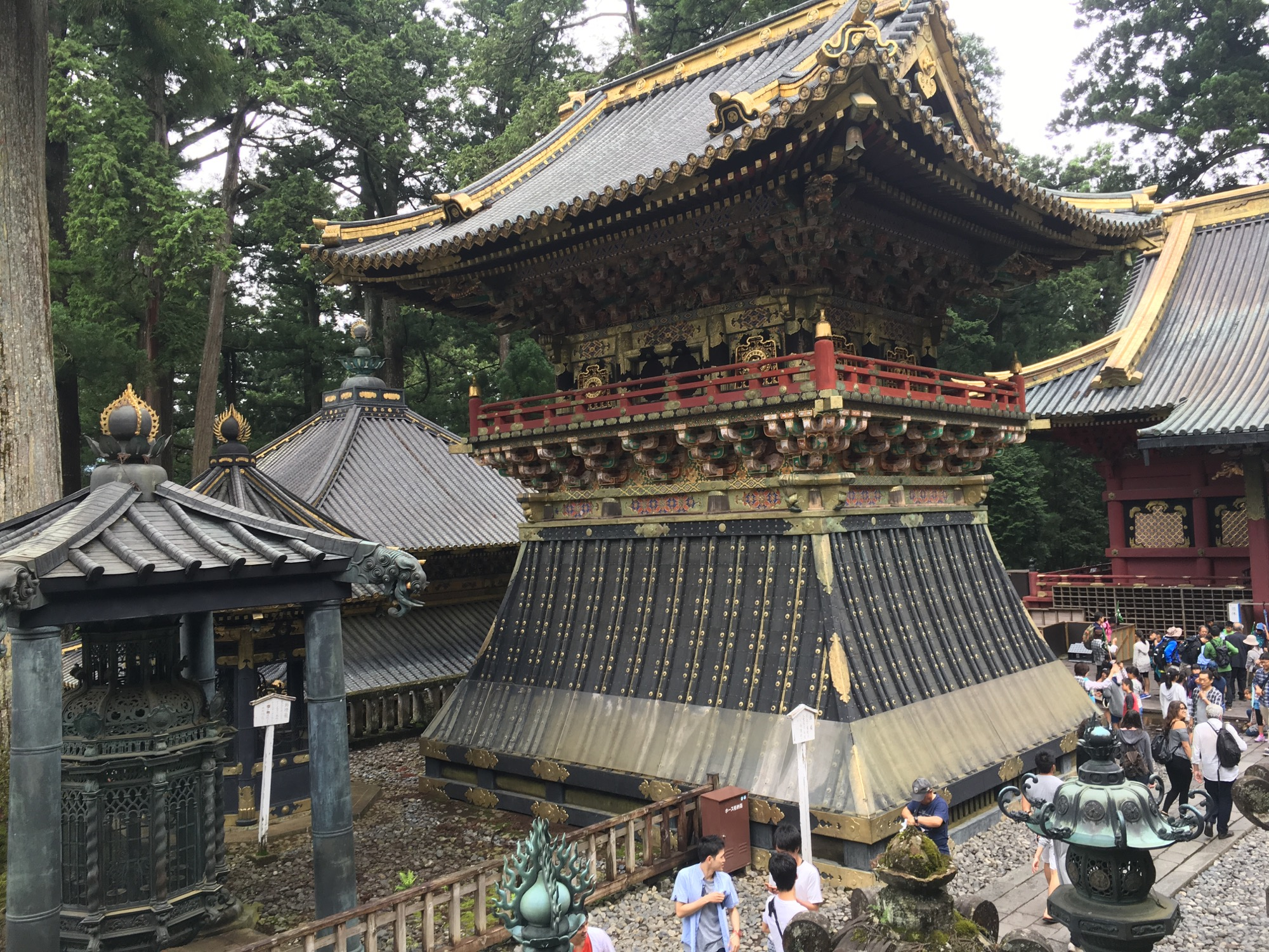 Another shot of the shrine and crowds