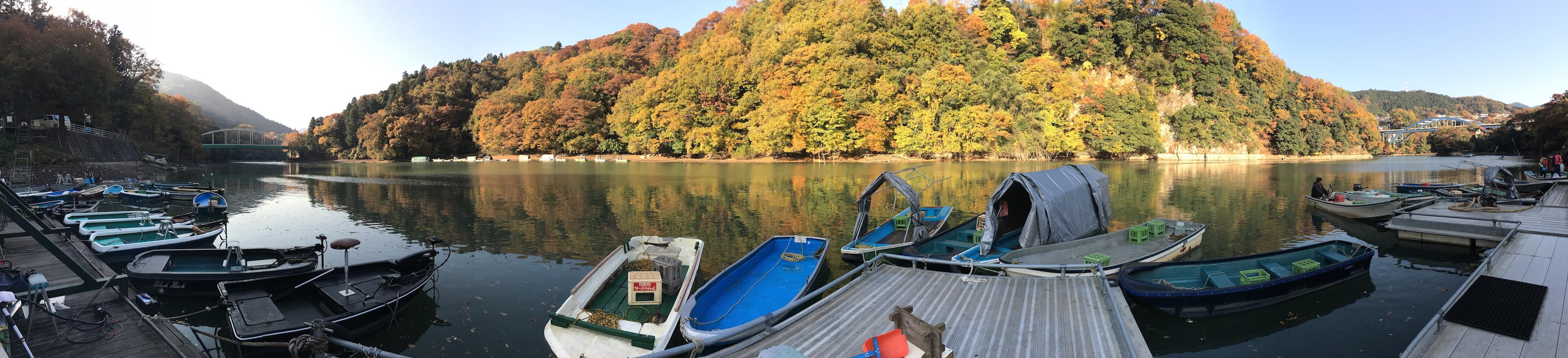 Panorama of Lake Sagmiko