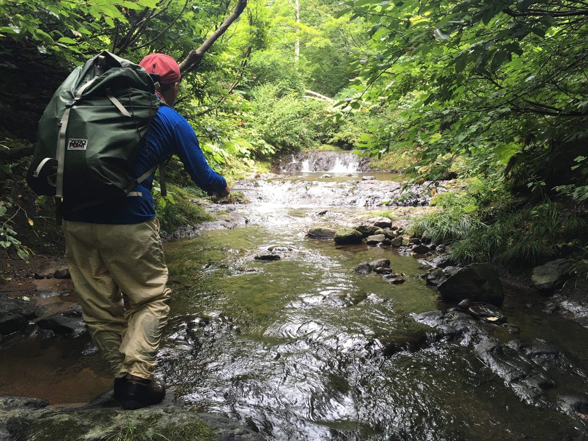 Tight stream fishing.