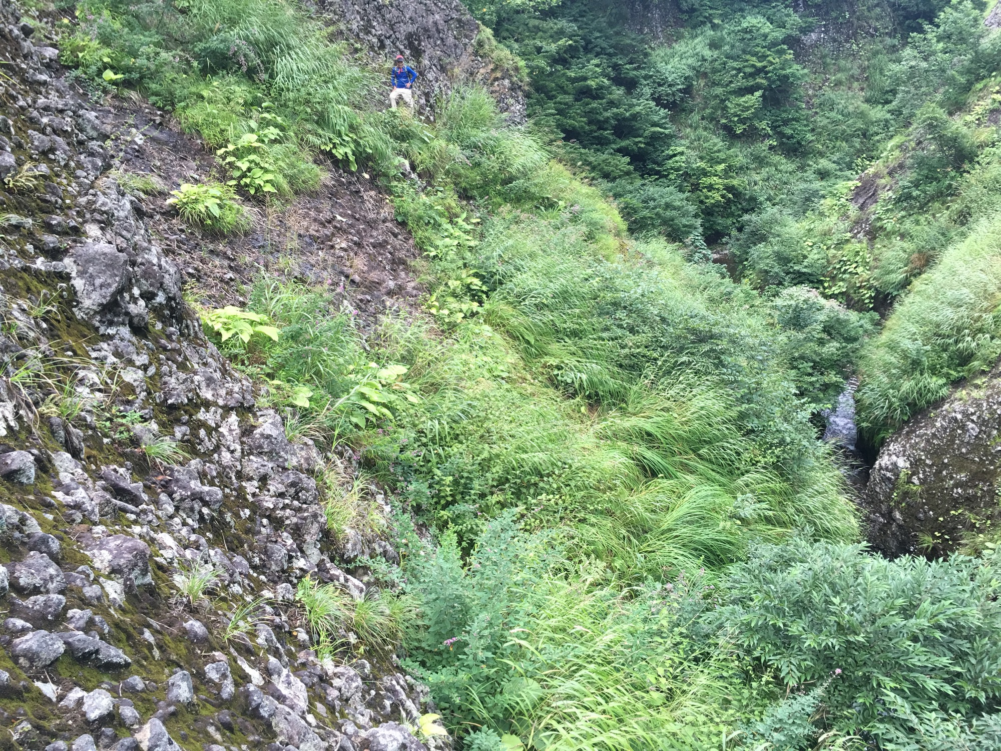 Class V climb to get above the waterfall.