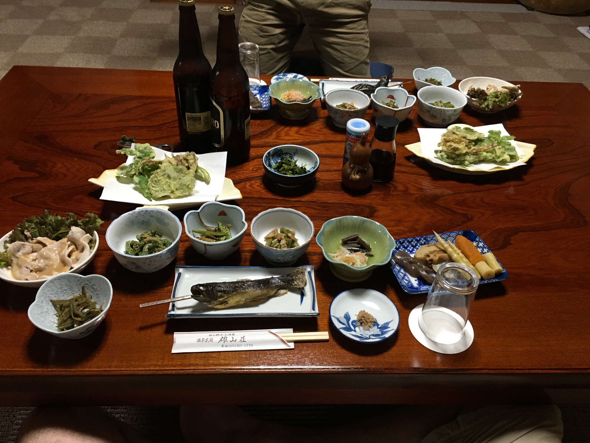 A traditional Japanese dinner